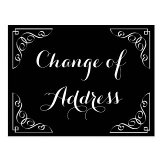 Stylish Change of address calligraphy postcard