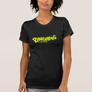 Stylish Chartreuse Ridiculous Retro Font T-Shirt