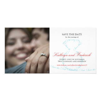 Stylish Chic Engagement Diamond Ring Save The Date Card