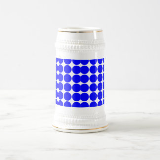 Stylish Chic Girly Blue Polka Dots for Her Beer Stein