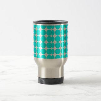 Stylish Chic Girly Cyan Polka Dots for Her Coffee Mug