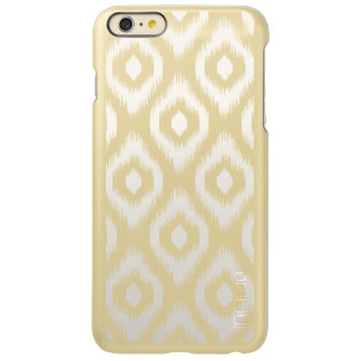 Stylish Chic Ivory Diamond Ikat Tribal Pattern Incipio Feather Shine iPhone 6 Plus Case