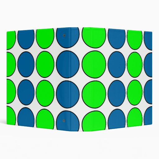 Stylish Chic Lime & Sapphire Polka Dots for Her Vinyl Binders