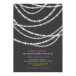 Stylish Chic New Year Sparkles Dinner Party Invite