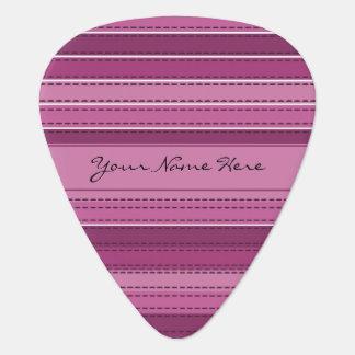 Stylish Chic Pink & Purple Stripes Guitar Pick