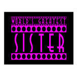 Stylish Chic Sisters : World's Greatest Sister Postcard
