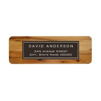 Stylish Chic Wood Grain Woodgrain Label
