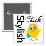 Stylish Chick 2 Pinback Button