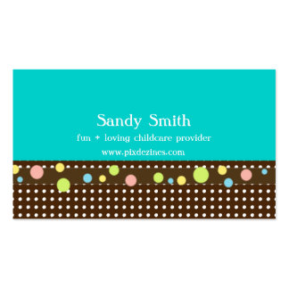 Stylish childcare business cards
