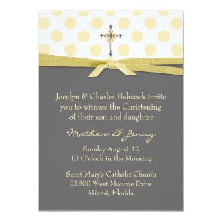 "Stylish Christening or Baptism Invitation 4.5"" X 6.25"" Invitation Card"