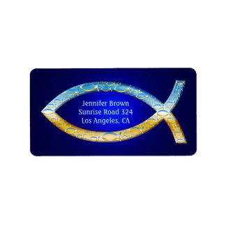 Stylish Christian Fish   share your Faith Label