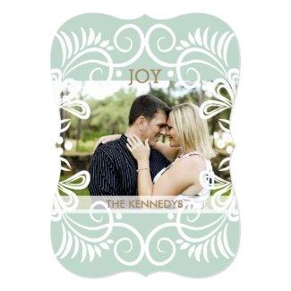 Stylish Christmas Joy Photo Holiday 5x7 Paper Invitation Card