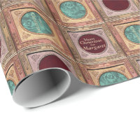 Stylish Christmas Personalized Wrapping Paper 7