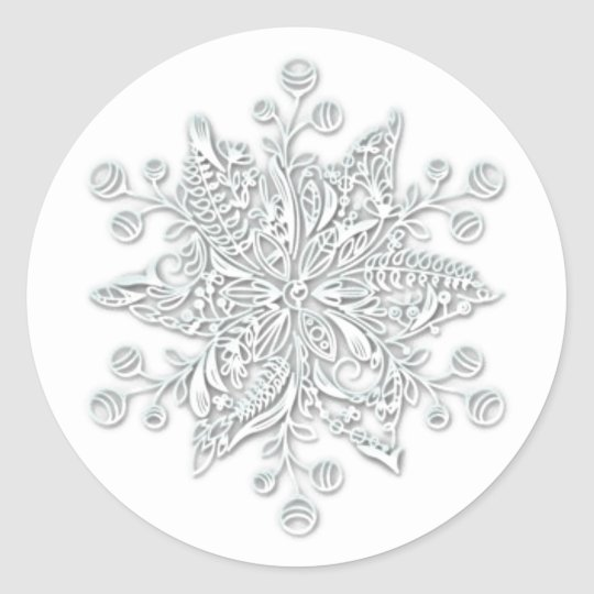 Snowflake Red /& Purple /'MERRY CHRISTMAS/' Round Gift Seal Christmas Gift Stickers