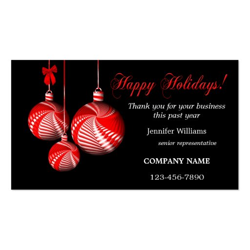 Stylish Christmas Thank You Business Card Template