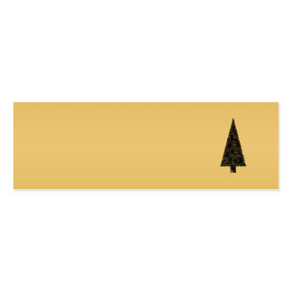 Stylish Christmas Tree. Black and Gold. Business Card
