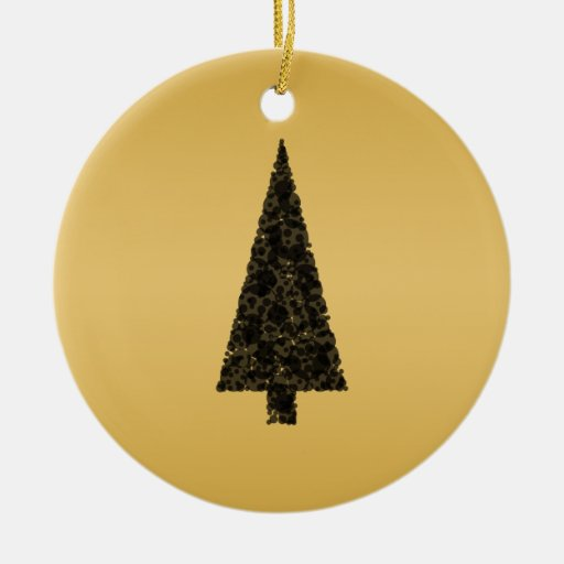 Stylish christmas tree black and gold ceramic ornament for Christmas tree with gold and blue ornaments