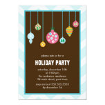 Stylish Christmas Tree Ornaments Holiday Party Custom Announcements