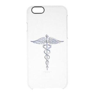 Stylish Chrome Like Caduceus Medical Symbol Clear iPhone 6/6S Case