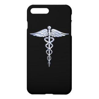 Stylish Chrome Like Caduceus Medical Symbol iPhone 7 Plus Case