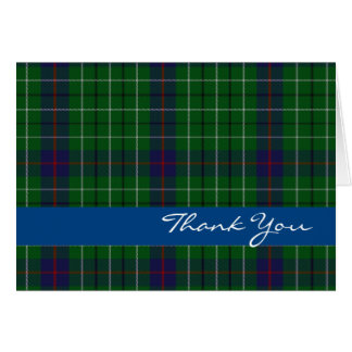 Stylish Clan Duncan Thank You Card
