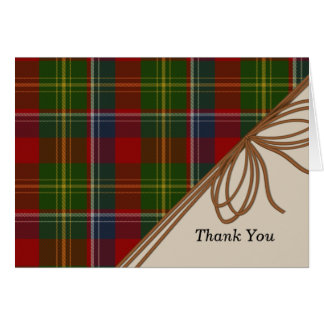 Stylish Clan Forrester Plaid Thank You Note Card