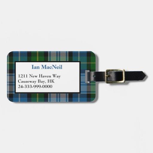 Stylish Clan MacNeil Tartan Plaid Luggage Tag