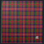 "Stylish Clan MacPherson Monogram Tartan Plaid Cloth Napkin<br><div class=""desc"">Handsome traditional colorful clan MacPherson tartan plaid pattern.  A single white old world letter monogram,  in the bottom right corner is ready to personalize for yourself or as a great gift idea. Matching place mats and other products available.</div>"