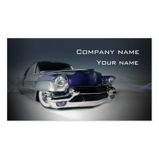 Stylish classic automotive business card
