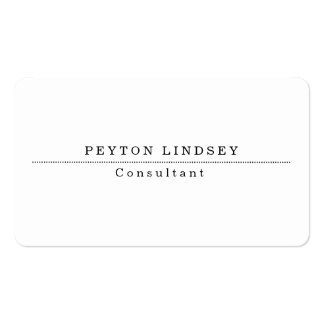Stylish Classical White Professional Creator Business Card