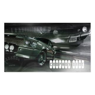 Stylish classick muscle automotive business card