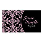 Stylish Classy Elegant Professional Damask Floral Business Cards