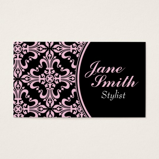 Stylish Classy Elegant Professional Damask Floral Business Card