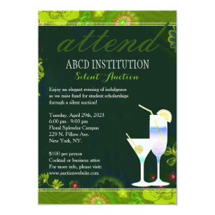 Dating auction fundraiser invitations