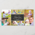 """Stylish Collage Birth Announcement - Charcoal<br><div class=""""desc"""">Elegant and full of charm,  these birth invitations showcase your sophisticated style as you introduce your newest addition to family and friends. More colors and matching items are available at berryberrysweet.com or upon request. Have questions?</div>"""