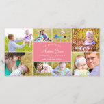 """Stylish Collage Birth Announcement - Pink<br><div class=""""desc"""">Elegant and full of charm,  these birth invitations showcase your sophisticated style as you introduce your newest addition to family and friends. More colors and matching items are available at berryberrysweet.com or upon request. Have questions?</div>"""