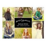 Stylish Collage Graduation Announcement/Invitation Postcards