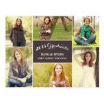 Stylish Collage Graduation Announcement/Invitation Post Cards