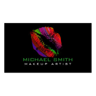Stylish Colored Lips Makeup Artist #10 Business Card