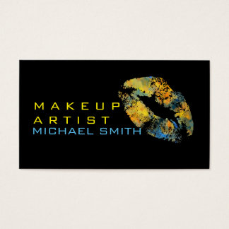 Stylish Colored Lips Makeup Artist #11 Business Card