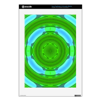 Stylish colorful circle PS3 console decal