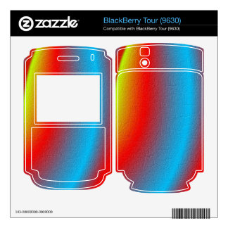 Stylish colorful pattern skins for BlackBerry