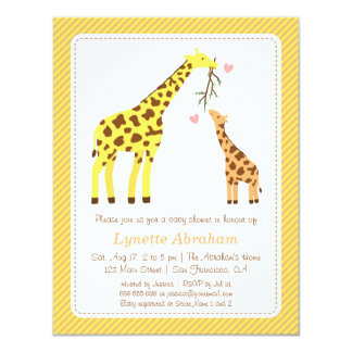 Captivating Stylish Colourful Giraffe Baby Shower Invitations