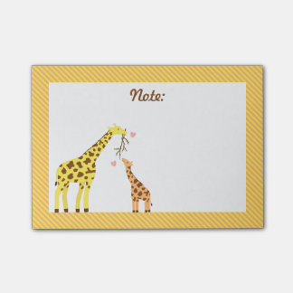 Stylish Colourful Giraffe Mommy and Baby Calf Post-it® Notes