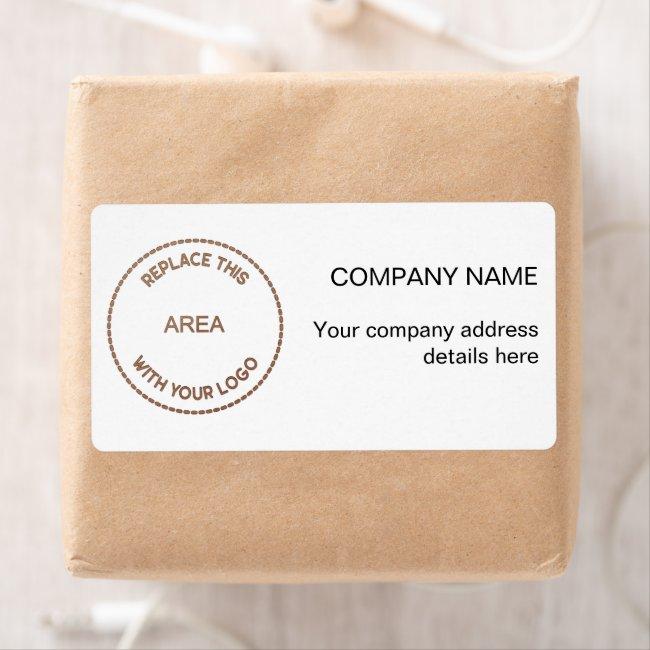 Stylish Company Logo Return Name Address Label