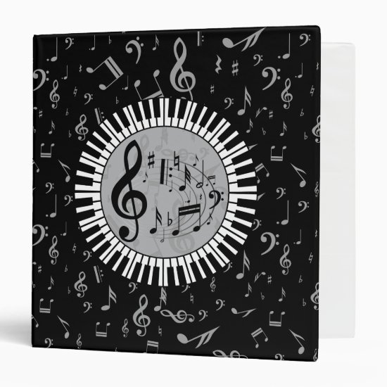 Stylish contemporary black white and gray circular binder