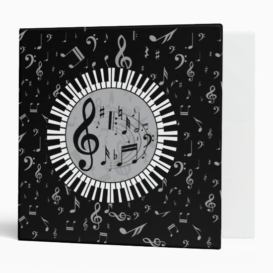 Stylish contemporary black white and gray circular binder