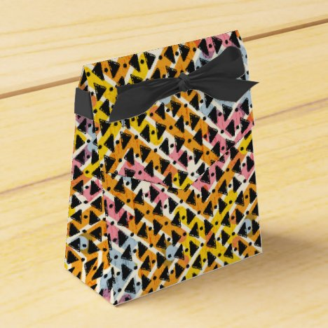 Stylish contemporary colorful criss cross weave favor box