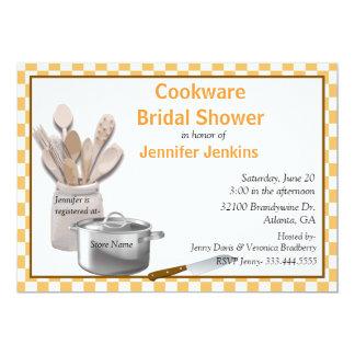 Stylish Cookware Bridal Shower Invitation