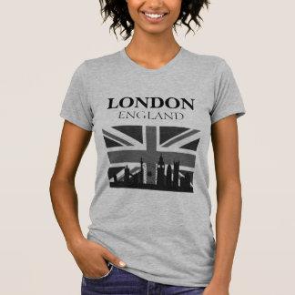 Stylish Cool Black Gray London Union Jack T-Shirt